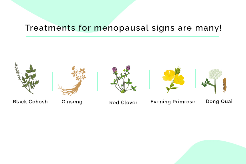Treatments for menopausal signs are many!